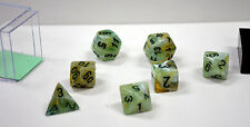 Dungeons & Dragons Fantasy 16mm 7 Piece Dice Set: Marble Green 27409