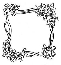 CREATIVE EXPRESSIONS - Singles stamps - ROSE FRAME