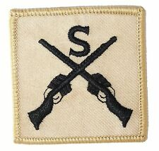 BRITISH ARMY DESERT STORM SNIPER PATCH iron /sew on military soldier cloth badge