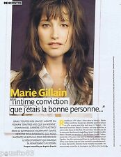 COUPURE DE PRESSE CLIPPING 2011 Marie Gillain (3 pages)
