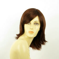 mid length wig for women dark brown copper intense ref: URSULA 322 PERUK