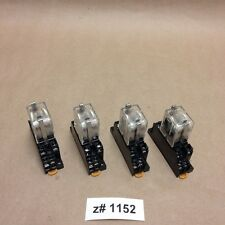 (Lot of 4) Omron MY2N-D2 24VDC General Purpose Relays with 2-M4X10 Bases