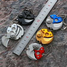 Coin EDC Keyring Keychain Necklace Karambit Stainless steel Neck claw knife Cool