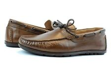 NEW Men's GBX Leather Henley Brown Loafer Boat Moccasin Driver Shoe 11.5 Slip On