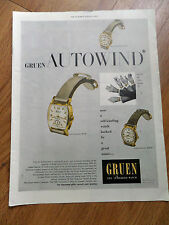 1948 Gruen Watches Ad  The Gruen Autowind Triumph Airman & Mariner