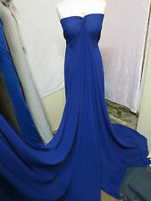 "1m ROYAL BLUE GEORGETTE DRESS CHIFFON FABRIC 58"" WIDE"