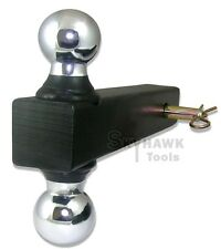 """New Bi-Ball/Double Ball Mount Trailer Hitch 2"""" x 2"""" Receiver  With 5/8"""" Pin"""