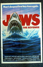 JAWS 4 The Revenge Original 1980s One Sheet Movie Poster Michael Caine
