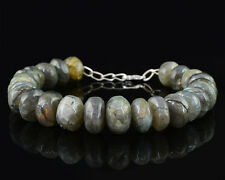 AAA 302.00 CTS EARTH MINED STYLISH HAND MADE LARADORITE ROUND BEADS BRACELET