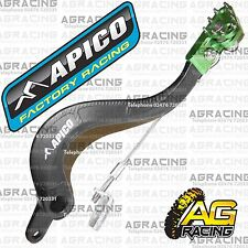 Apico Black Green Rear Brake Pedal Lever For Kawasaki KX 450F 2006-2016 MotoX