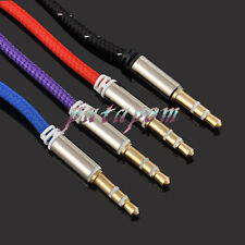Male to Male 3.5mm AUX AUXILIARY CORD Stereo Audio Cable for PC iPod MP3 CAR PAT
