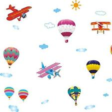 cartoon fire balloon airplane baby bedroom decor PVC Wall sticker wall decals