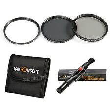 77mm Slim UV CPL ND4 Filterset Kamera Objektiv Filter Set + Reinigungspinsel