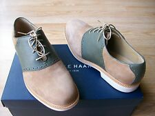 Cole Haan Great Jones Saddle II Shoes Mens Oxford Leather & Tan Suede sz 8 NIB