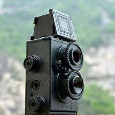 Durable Black DIY Twin Lens Reflex TLR 35mm Lomo Film Camera Kit Photography