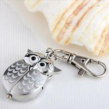 Owl Pocket Pendant Watch Key Chain Keyring Cute Kids Gift HOT