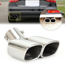 CURVED Exhaust Tail Pipe Rear Muffler End Trim  58mm For Versa Kia Focus Toyota
