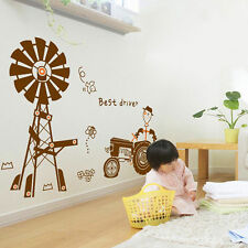 Tractor Windmill Mural Removable Vinyl Wall Sticker Decal Kid Nursery Room Decor