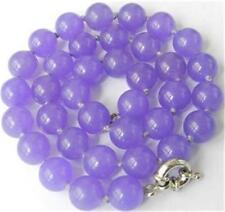 10mm Purple Alexandrite Round Gems necklace 18''
