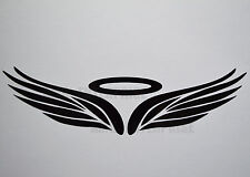 Black Angel Halo Badge Decal Sticker Vinyl for Fiat Grande Punto Evo Sporting SX