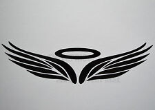 Black Angel Halo Badge Decal Sticker Vinyl for Chevrolet Matiz Cruze Captiva Car