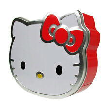 Hello Kitty Lipgloss Tin Gift Set Shimmer Glitter Collection Compact Brush 5pcs