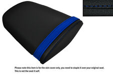 DESIGN 3 R BLUE & BLACK CUSTOM FITS HONDA CBR 600 07-12 REAR LEATHER SEAT COVER