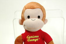 """CURIOUS GEORGE PLUSH DOLL Largen16"""" TALL LICENSED MONKEY PLUSH TOY Movie"""