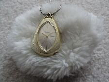 Vintage Sheffield Wind Up Shock Resistant Necklace Pendant Watch