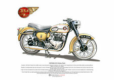 BSA A10 Golden Flash ART POSTER A3 size