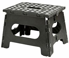 """Folding Step Stool 11"""" Wide The lightweight step stool is sturdy enough to"""