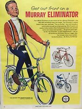 "GIANT 1967 MURRAY ELIMINATOR BOYS LIFE AD! 10""x13"" Cardboard/plastic!"