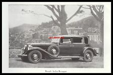 Publicité Automobile Renault Berline Reinasport car vintage photo ad  1932 - 4h