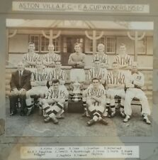 ASTON VILLA 1957 F.A.CUP FINAL TEAM PRESS PHOTO BY A.WILKES. VERY RARE EX-PLAYER