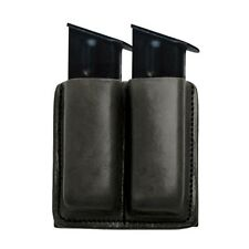 TAGUA BLACK LEATHER DOUBLE MAGAZINE CARRIER for Taurus pt 145 745 845 24/7-45