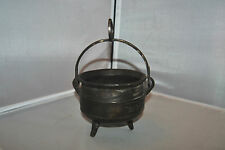 ANTIQUE VINTAGE BRONZE BRASS KETTLE POT CAULDRON TRIPOD HANDMADE