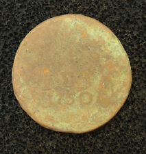 1750 DENGA OLD RUSSIAN IMPERIAL COIN, ORIGINAL, UNCLEANED