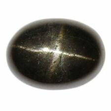 12x10mm OVAL cabochon-cut jet-black NATURALE INDIANO STAR DIOPSIDE Gemstone £ 1 NR!