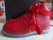 100% Auth Nike Air Force 1 High CMFT LUX University Red/Gold sz 8.5 [748280-600]