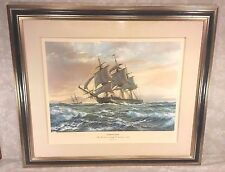 Roy Cross USS Constitution Ltd Edition Print Pencil Signed 29/750 Old Ironsides