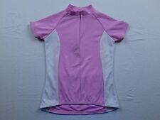Womens Trek USA Pink White 1/2 Zip MTB Mountain Bike Race Cycling Jersey Sz S