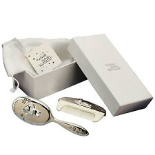 Babies Silver Hair Brush Comb Gift Set Christening Newborn Baby Keepsake Present