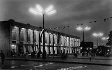 Hungary Debrecen Palyaudvar at night, nuit, nacht 1968