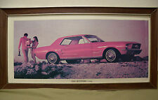 """Framed Photo Poster Print 1967 Ford Mustang Hardtop 35"""" x 18.25"""" Dealers Sign"""