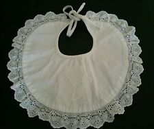 Baby Dior girl one size white bib dressy emblem DIOR embroidered EUC ceremony nb