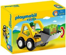 Playmobil 1.2.3 Excavator Front Loader Construction Driver Dig Build Children