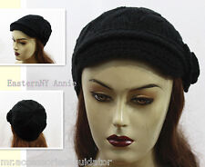 New Women Fashion Winter Knitted Hat With Flower/High Quality Soft Cap #AC914