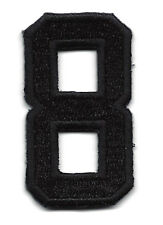"NUMBERS  - Black Number ""8"" (1 7/8"") - Iron On Embroidered Applique/Numbers"