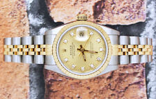 ORIGINAL Champagne Diamond Dial Ladies Rolex Oyster Perpetual Datejust.
