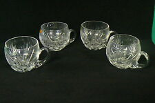 Cristal lot de 4 tasses taillé main de belle facture Saint-Louis ? Baccarat ?